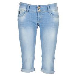material Women 3/4 & 7/8 jeans Le Temps des Cerises CHRISTIA Blue / Clear