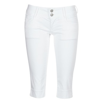 material Women cropped trousers Le Temps des Cerises NINA White