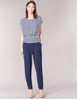 material Women Wide leg / Harem trousers Molly Bracken FODES Marine