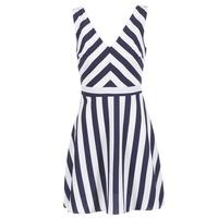 material Women Short Dresses Molly Bracken TRODAK MARINE / White