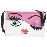 Bags Women Shoulder bags Braccialini EYES White / Pink