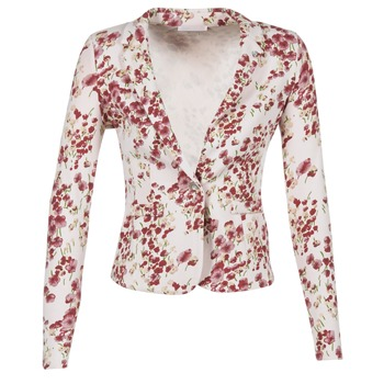 material Women Jackets / Blazers Les P'tites Bombes OSIDOULE White / Red