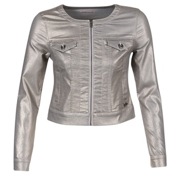 material Women Denim jackets Les P'tites Bombes OMILATE Silver