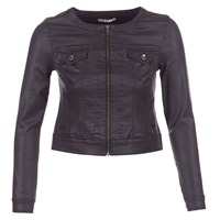 material Women Denim jackets Les P'tites Bombes OMILATE Black