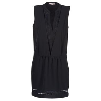 material Women Short Dresses Les P'tites Bombes JOUNE Black