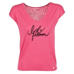 material Women short-sleeved t-shirts LPB Woman CHOUBERNE Pink