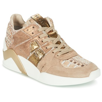 Shoes Women High top trainers Serafini CHICAGO Beige / Gold