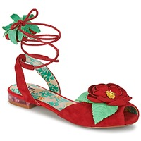 Shoes Women Sandals Miss L'Fire ROSETTA Red / Green