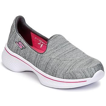 Shoes Girl Slip ons Skechers GO WALK 4 Grey