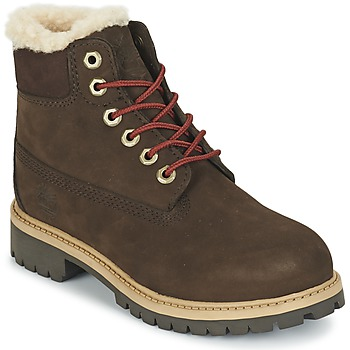 Shoes Children Mid boots Timberland 6 IN PRMWPSHEARLING Brown