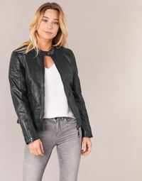 material Women Leather jackets / Imitation le Schott HARVEY Black