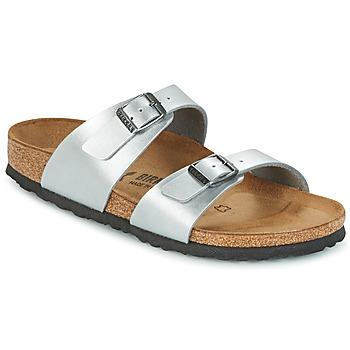 Shoes Women Mules Birkenstock SYDNEY Silver