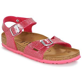 Shoes Girl Sandals Birkenstock RIO Pink / Glitter