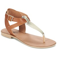 Shoes Women Sandals Betty London VITAMO CAMEL / Gold