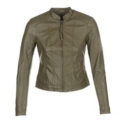 material Women Leather jackets / Imitation le Vero Moda QUEEN Kaki