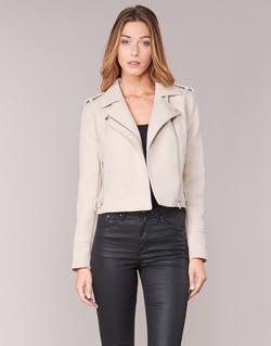 material Women Leather jackets / Imitation le Vero Moda SOFIA Beige