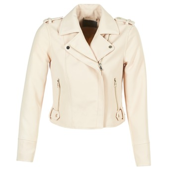 material Women Leather jackets / Imitation le Vero Moda SOFIA BEIGE