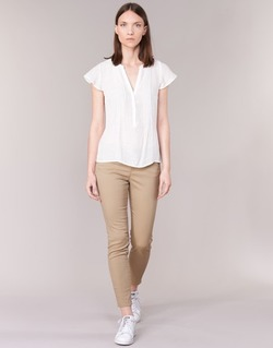material Women 5-pocket trousers Vero Moda BUENO Beige