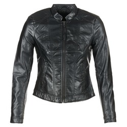 material Women Leather jackets / Imitation le Vero Moda QUEEN Black