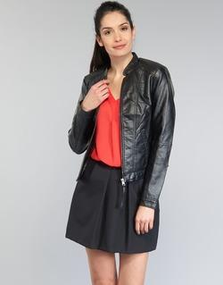 material Women Leather jackets / Imitation le Vero Moda QUEEN Black