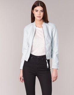 material Women Leather jackets / Imitation le Vero Moda QUEEN Blue / Clear