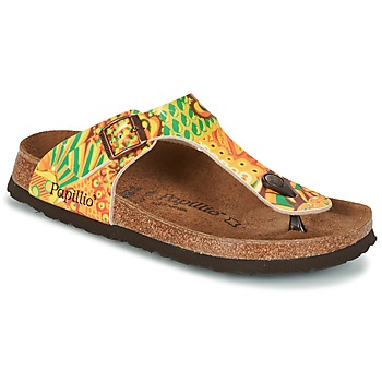 Shoes Women Flip flops Papillio GIZEH Yellow / Green