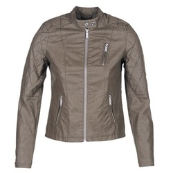 material Women Leather jackets / Imitation le S.Oliver REZATO Taupe