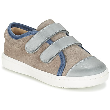 Shoes Boy Low top trainers Citrouille et Compagnie GOUTOU Grey / Taupe / Blue