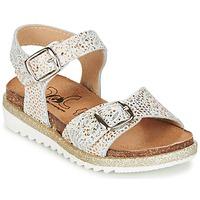 Shoes Girl Sandals Citrouille et Compagnie GAUFRETTE Gold / White
