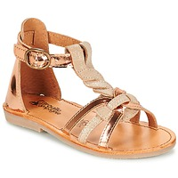 Shoes Girl Sandals Citrouille et Compagnie GITANOLO BEIGE / Coppery
