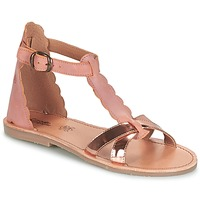 Shoes Girl Sandals Citrouille et Compagnie GUBUDU Pink / Gold