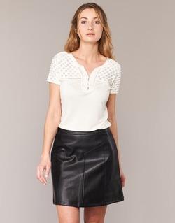 material Women short-sleeved t-shirts Naf Naf OPARI Ecru
