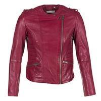 material Women Leather jackets / Imitation le Naf Naf CRISCA Bordeaux