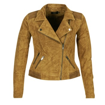 material Women Leather jackets / Imitation le Only JOSEPHINE Cognac