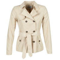 material Women Trench coats Only MARIA SHORT BEIGE