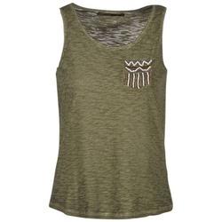 material Women Tops / Sleeveless T-shirts Only VIOLA KAKI
