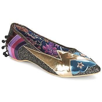 Shoes Women Ballerinas Irregular Choice GROUND CONTROL Black / Gold