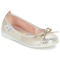 Shoes Girl Ballerinas Citrouille et Compagnie GRAGON BEIGE / Glitter