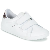 Shoes Girl Low top trainers Citrouille et Compagnie GRANOU White / Glitter