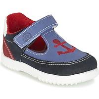 Shoes Boy Sandals Citrouille et Compagnie GANDAL Blue / Red