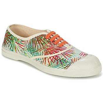 Shoes Women Low top trainers Bensimon TENNIS FEUILLES EXOTIQUES Ecru / Orange / Green