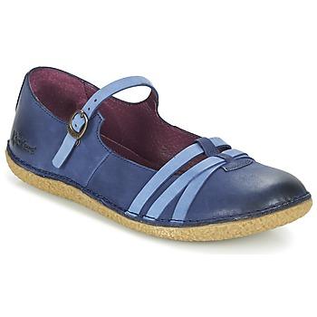 Shoes Women Ballerinas Kickers HIBOU MARINE