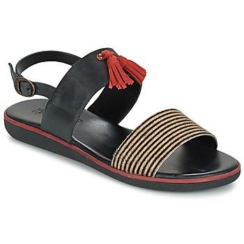 Shoes Women Sandals Kickers HYRO Black / Red