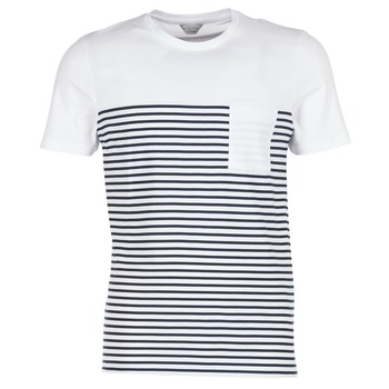 material Men short-sleeved t-shirts Jack & Jones APRIL CORE White / Marine