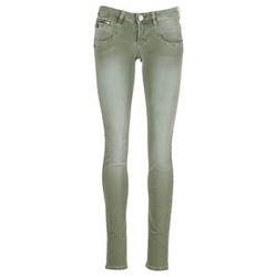 material Women 5-pocket trousers Freeman T.Porter ALEXA SLIM NEW MAGIC COLOR KAKI