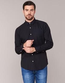 material Men long-sleeved shirts Esprit FOVETTIO Black