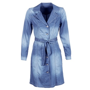 material Women Trench coats Cream DENIM TRENCHCOAT Denim