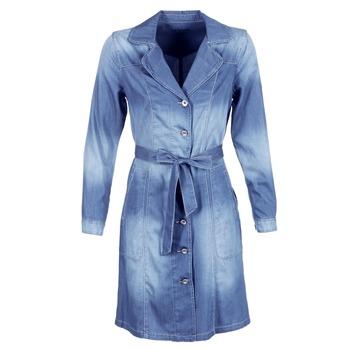 material Women Trench coats Cream DENIM TRENCHCOAT DENIM