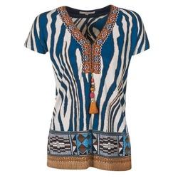material Women short-sleeved t-shirts Derhy JAQUERIE Blue