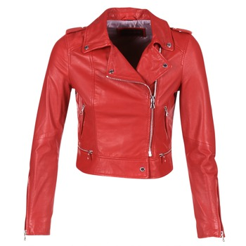 material Women Leather jackets / Imitation le Oakwood 62326 Red